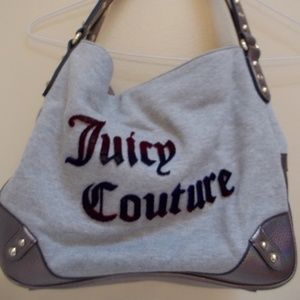 Gray Juicy Couture Studded Satchel Handbag